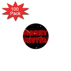 Star Sky Graphic Night Background 1  Mini Buttons (100 Pack)