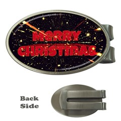 Star Sky Graphic Night Background Money Clips (oval)