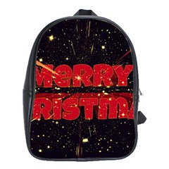 Star Sky Graphic Night Background School Bag (large)