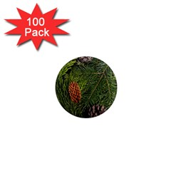 Branch Christmas Cone Evergreen 1  Mini Magnets (100 Pack)