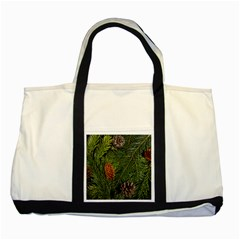 Branch Christmas Cone Evergreen Two Tone Tote Bag