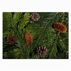 Branch Christmas Cone Evergreen Large Glasses Cloth
