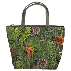 Branch Christmas Cone Evergreen Bucket Bags