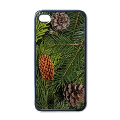Branch Christmas Cone Evergreen Apple Iphone 4 Case (black)