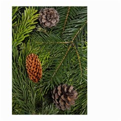 Branch Christmas Cone Evergreen Small Garden Flag (two Sides)