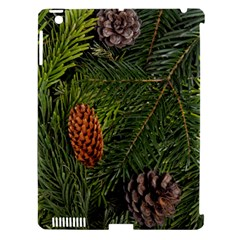 Branch Christmas Cone Evergreen Apple Ipad 3/4 Hardshell Case (compatible With Smart Cover)