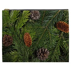 Branch Christmas Cone Evergreen Cosmetic Bag (xxxl)