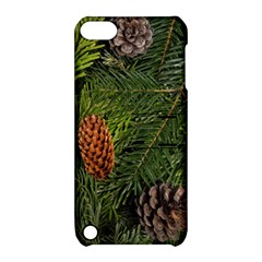 Branch Christmas Cone Evergreen Apple Ipod Touch 5 Hardshell Case With Stand