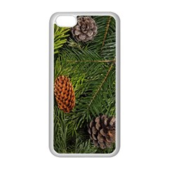 Branch Christmas Cone Evergreen Apple Iphone 5c Seamless Case (white)