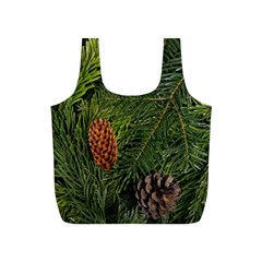 Branch Christmas Cone Evergreen Full Print Recycle Bags (s)