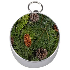 Branch Christmas Cone Evergreen Silver Compasses