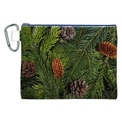 Branch Christmas Cone Evergreen Canvas Cosmetic Bag (xxl)