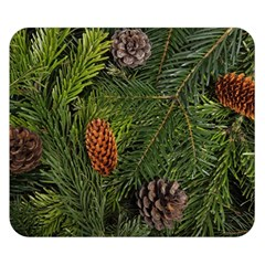 Branch Christmas Cone Evergreen Double Sided Flano Blanket (small)