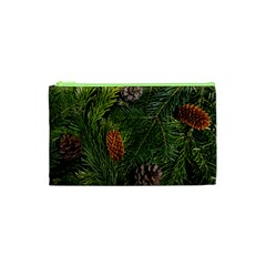 Branch Christmas Cone Evergreen Cosmetic Bag (xs)