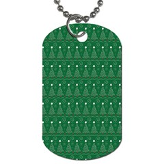 Christmas Tree Pattern Design Dog Tag (one Side)