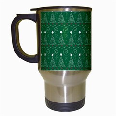 Christmas Tree Pattern Design Travel Mugs (white)