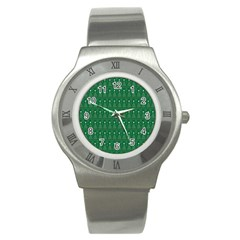 Christmas Tree Pattern Design Stainless Steel Watch