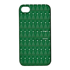 Christmas Tree Pattern Design Apple Iphone 4/4s Hardshell Case With Stand