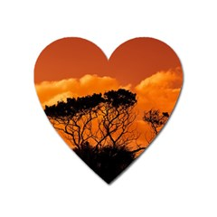 Trees Branches Sunset Sky Clouds Heart Magnet