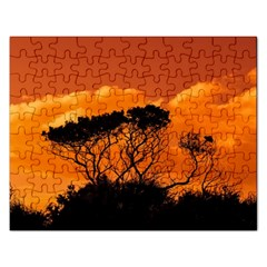 Trees Branches Sunset Sky Clouds Rectangular Jigsaw Puzzl