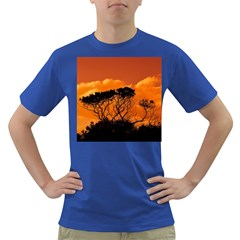 Trees Branches Sunset Sky Clouds Dark T Shirt