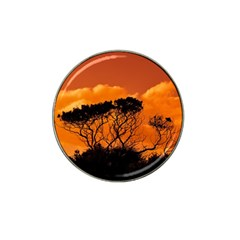 Trees Branches Sunset Sky Clouds Hat Clip Ball Marker (4 Pack)