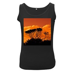 Trees Branches Sunset Sky Clouds Women s Black Tank Top