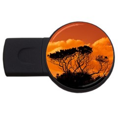 Trees Branches Sunset Sky Clouds Usb Flash Drive Round (4 Gb)