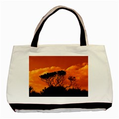 Trees Branches Sunset Sky Clouds Basic Tote Bag