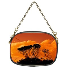 Trees Branches Sunset Sky Clouds Chain Purses (two Sides)