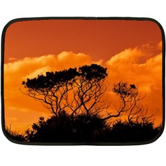 Trees Branches Sunset Sky Clouds Fleece Blanket (mini)