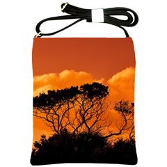 Trees Branches Sunset Sky Clouds Shoulder Sling Bags