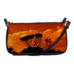 Trees Branches Sunset Sky Clouds Shoulder Clutch Bags