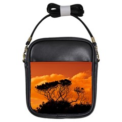 Trees Branches Sunset Sky Clouds Girls Sling Bags