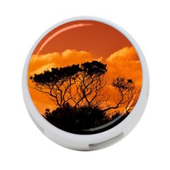 Trees Branches Sunset Sky Clouds 4 Port Usb Hub (two Sides)