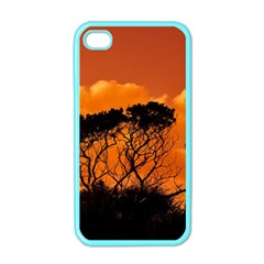 Trees Branches Sunset Sky Clouds Apple Iphone 4 Case (color)