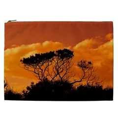 Trees Branches Sunset Sky Clouds Cosmetic Bag (xxl)