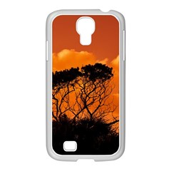 Trees Branches Sunset Sky Clouds Samsung Galaxy S4 I9500/ I9505 Case (white)