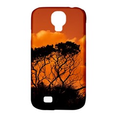 Trees Branches Sunset Sky Clouds Samsung Galaxy S4 Classic Hardshell Case (pc+silicone)
