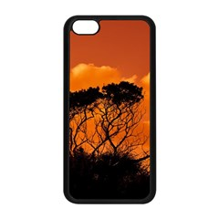 Trees Branches Sunset Sky Clouds Apple Iphone 5c Seamless Case (black)