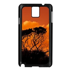 Trees Branches Sunset Sky Clouds Samsung Galaxy Note 3 N9005 Case (black)