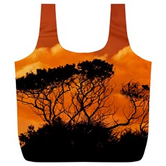Trees Branches Sunset Sky Clouds Full Print Recycle Bags (l)