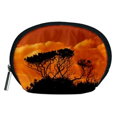 Trees Branches Sunset Sky Clouds Accessory Pouches (medium)
