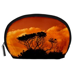 Trees Branches Sunset Sky Clouds Accessory Pouches (large)