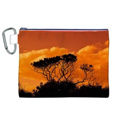 Trees Branches Sunset Sky Clouds Canvas Cosmetic Bag (xl)