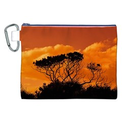 Trees Branches Sunset Sky Clouds Canvas Cosmetic Bag (xxl)
