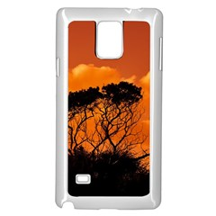 Trees Branches Sunset Sky Clouds Samsung Galaxy Note 4 Case (white)