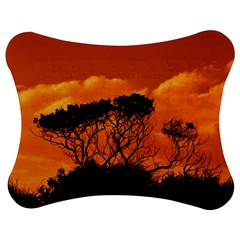 Trees Branches Sunset Sky Clouds Jigsaw Puzzle Photo Stand (bow)