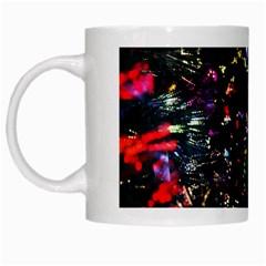 Abstract Background Celebration White Mugs
