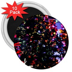 Abstract Background Celebration 3  Magnets (10 Pack)